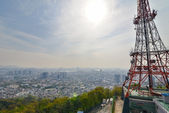 A view from the top of the hill. Seoul, Korea — Stock Photo