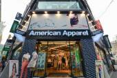 The entrance to American Apparel store in Seoul — Stock Photo