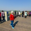 Tourists at the Korean Demilitarized Zone tour — Stock Photo #62717765