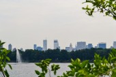 NEW YORK, CIRCA 2011 - New York skyline view that is seen from the Central Park, New York City, USA — Stok fotoğraf