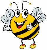 A happy bee — Stock Vector