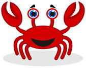 A happy red crab — Vector de stock