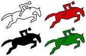 Icons for racecourse — Stock Vector