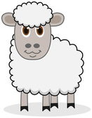 A white sheep with beautiful eyes — Vetorial Stock