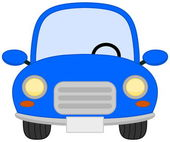 A single blue car — Vetor de Stock