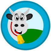 Cow in a logo — Vettoriale Stock