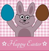 Easter eggs with rabbit — Stock Vector