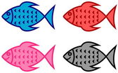 Series of fish for fish shop — Stock Vector