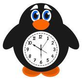 A clock object penguin — Stockvektor