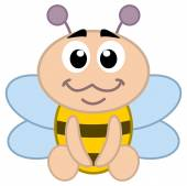 A bee baby sitting — Stock Vector