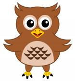A happy brown owl — Stock Vector