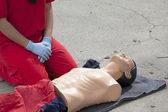 First aid training detail — Stock Photo