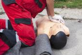 First aid training — Stock Photo