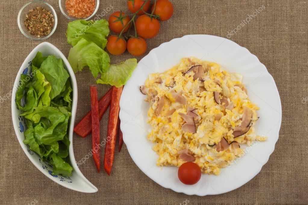 яичница с овощами диета