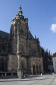 Prague, Czech Republic, July 8, 2013,: St. Vitus Cathedral is located at Prague Castle. Construction began around the year 930 and completed in its present form in the years 1344-1929 — Stock Photo