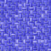 Blue woven fabric, a fabric texture background. fabric natural canvas texture. Closeup view of a blue cloth fabric. — Stock Photo