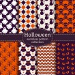 Halloween seamless patterns. Vector set. — Stock Vector #51987431
