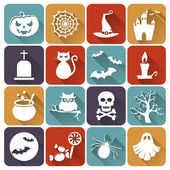Halloween flat icons. Vector set. — Stock Vector