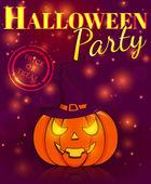 Festa di halloween. locandina festosa. illustrazione vettoriale. — Vettoriale Stock