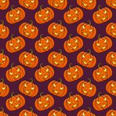 Halloween seamless background. Vector pattern. — Stock Vector