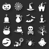 Halloween flat icons. Vector set. — Stock Vector
