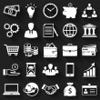 Business and finance flat icons. Vector set. — Stock Vector #54048121