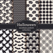 Halloween seamless patterns. Vector set. — Stock Vector #54048143