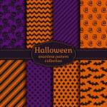 Halloween seamless patterns. Vector set. — Stock Vector #54048145