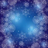 Christmas background with snowflakes and space for text. Vector — Stock Vector