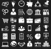 Business and finance icons. Vector set. — Stock Vector