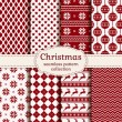 Christmas and winter seamless patterns. Vector set. — Stock Vector #58871143