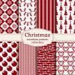Christmas and winter seamless patterns. Vector set. — Stock Vector #58871151