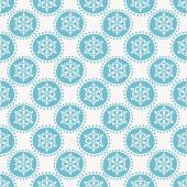 Winter pattern with snowflakes. Seamless background. — Stock Vector