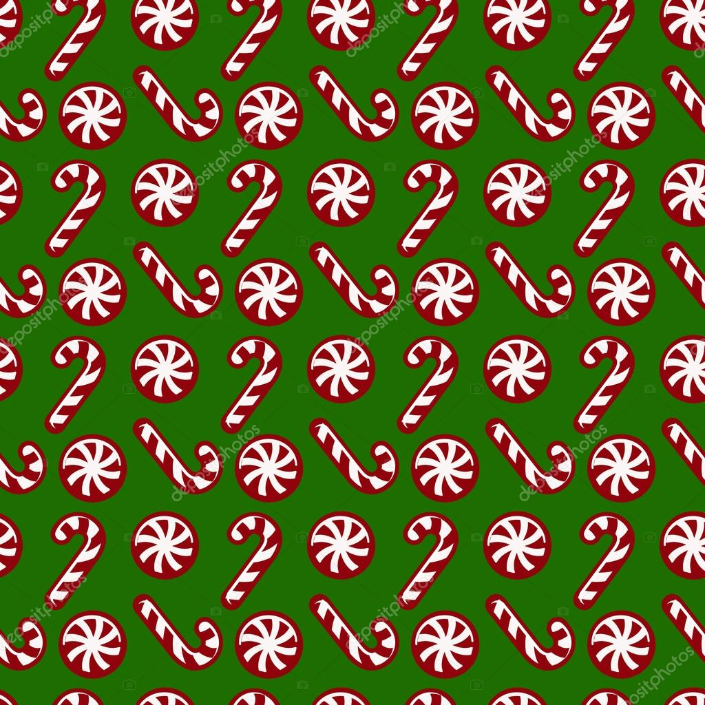 Download - Christmas pattern with candy canes. Vector seamless ...