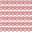Seamless pattern with interlocking hearts. Vector illustration. — Stock Vector #61462343