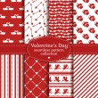Happy Valentine's Day! Set of love and romantic seamless pattern — Stock Vector #61462419