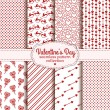 Happy Valentine's Day! Set of love and romantic seamless pattern — Stock Vector #61462493