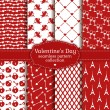 Happy Valentine's Day! Set of love and romantic seamless pattern — Stock Vector #61462527