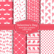 Happy Valentine's Day! Set of love and romantic seamless pattern — Stock Vector #61462567