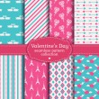 Happy Valentine's Day! Set of love and romantic seamless pattern — Stock Vector #61462653