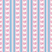 Striped pattern with hearts. Vector seamless background. — Stock Vector