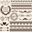 Love, romance and wedding design elements. Vector set. — Stock Vector #62187593