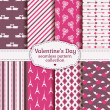 Happy Valentine's Day! Set of love and romantic seamless pattern — Stok Vektör #62347743