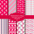 Happy Valentine's Day! Set of love and romantic seamless pattern — Stock Vector #62371191
