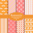 Love and romantic seamless patterns. Vector set. — Stock Vector #62830521