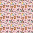Photographic seamless pattern. Vector background. — Stock Vector #65778911