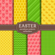 Happy Easter! Vector seamless patterns. — Stock Vector #67077883