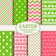 Happy Easter! Vector seamless patterns. — Stock Vector #67077895