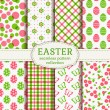 Happy Easter! Vector seamless patterns. — Stock Vector #67540693