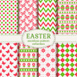 Happy Easter! Vector seamless patterns.  — Stock Vector #67540703